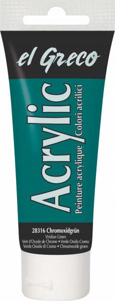 Acrylfarbe el Greco Acrylic, 75 ml - Chromoxidgrün