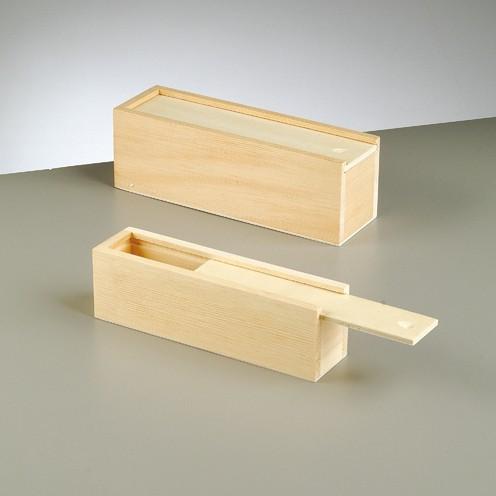 2 x Holzkisten zum Aufschieben, 23 x 7 x 7,5 cm & 20 x 5 x 5,5 cm