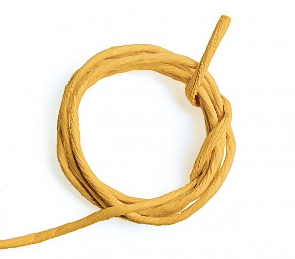 Papierkordel mit Drahtkern, 2 mm, 25 m, gelb