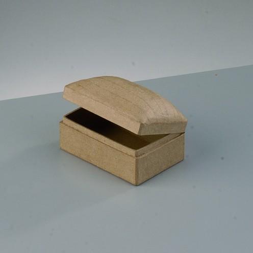 Box Schatztruhe , rechteck, bombiert, aus Pappmaché, 9 x 6 x 5