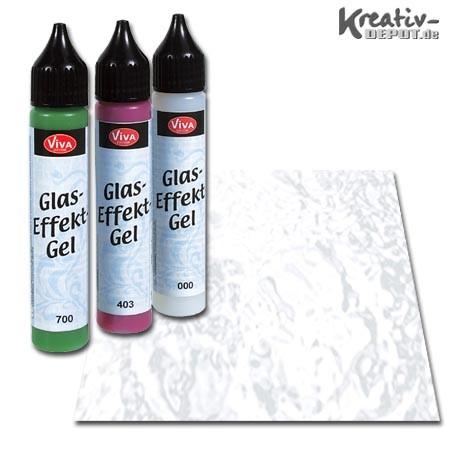 Viva Decor Glas-Effekt-Gel, 25 ml, Transparent Kristall Klar