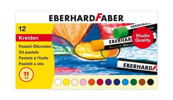 EBERHARD FABER Pastell-Ölkreide, 12 Farben im Kartonetui