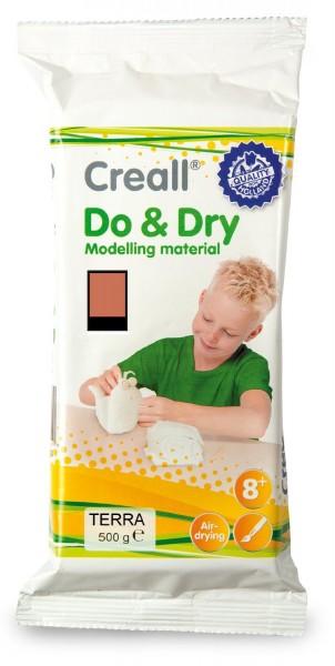 Creall-do & dry, lufthärtende Modelliermasse, 500 g, Terra