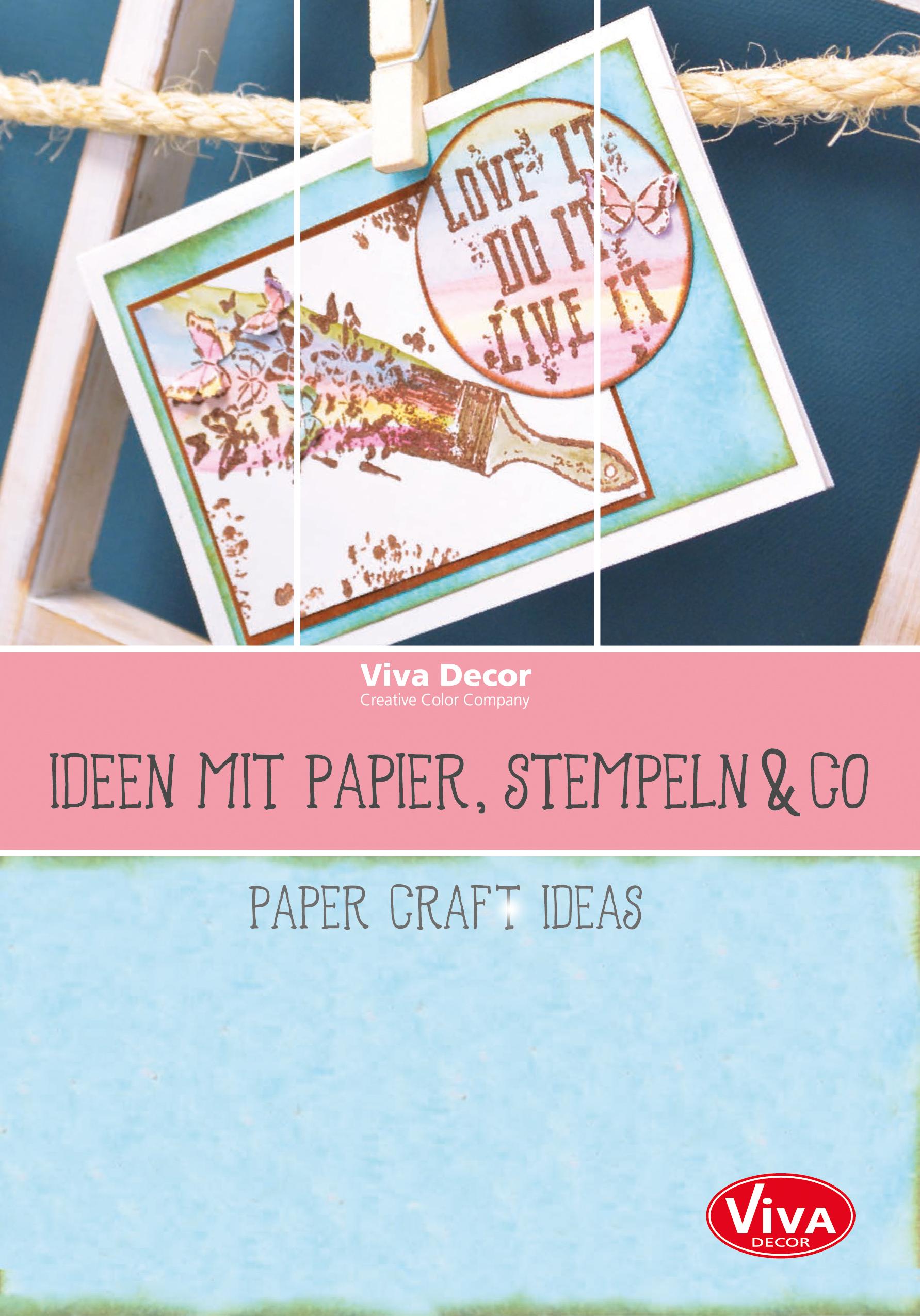 brosch re ideen mit papier stempeln co kreativ depot. Black Bedroom Furniture Sets. Home Design Ideas