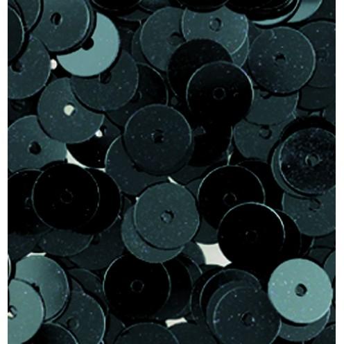 Pailletten, rund, flach, 6 mm, 4000 St, schwarz