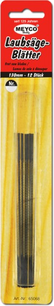 Laubsägeblätter, 12 Stück, 130 mm, Stärke 9