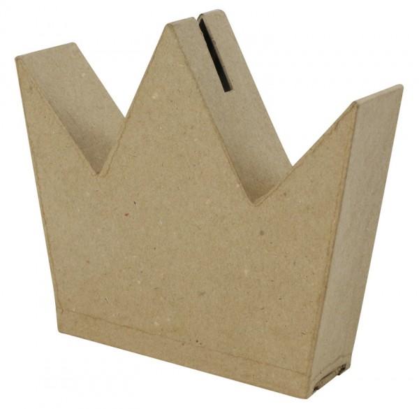 Spardose Krone, aus Pappmachè - 3,5 x 14,5 x 13,5 cm