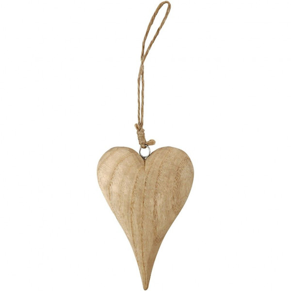 Herz aus Holz, 15 cm