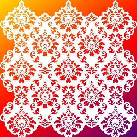 Viva Decor Hintergrund-Schablone Ornamenthintergrund, 29 x 29