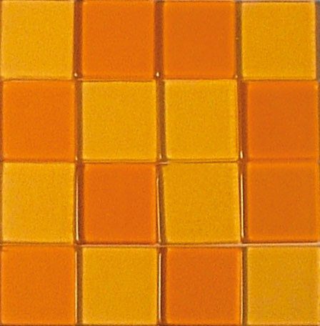 Mosaic Acryl, 1 x 1 cm, ca. 50 g, transparent, orange