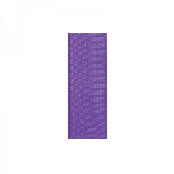 Chiffonband, 10mm breit, 10m lang - lila