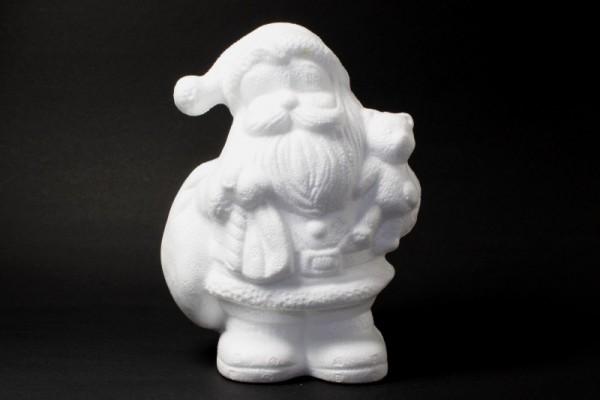 Styropor Weihnachtsmann mit Bär, 17,5 cm