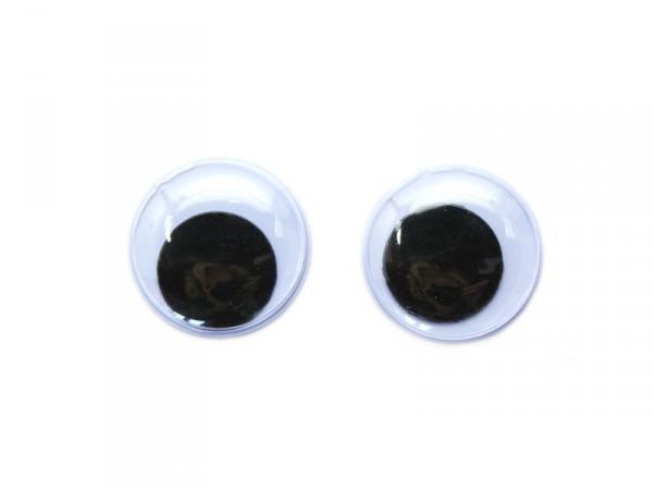 Wackelaugen, selbstklebend, rund, Ø 10mm, 28 Stück