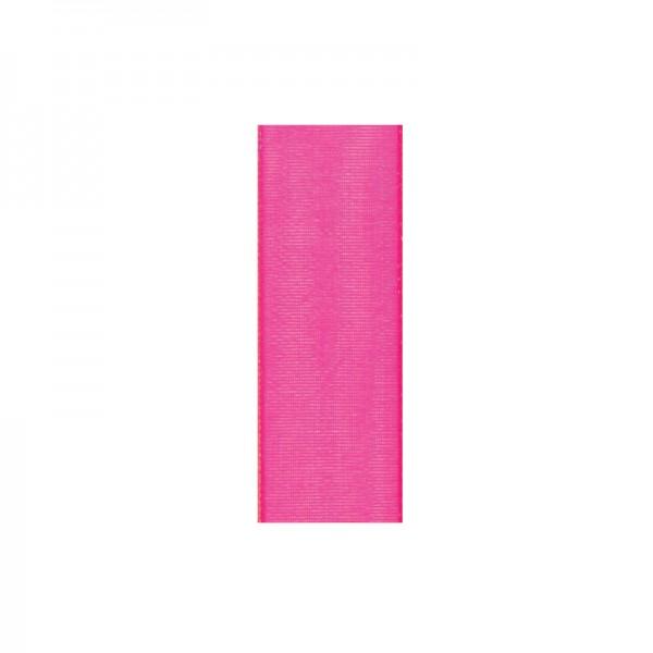 Chiffonband, 10mm breit, 10m lang - kirschrot