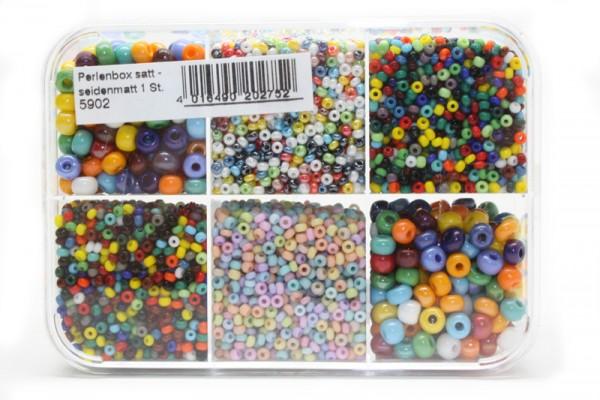 Sortimentsbox Perlen, Seidenmatt