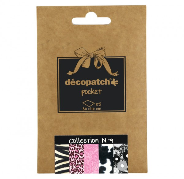 Decopatch Pocket Papier, 5er Sortiment, Collection No 9