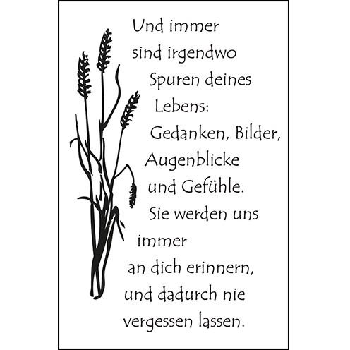 Clear Stamps - Trauer Und Immer...
