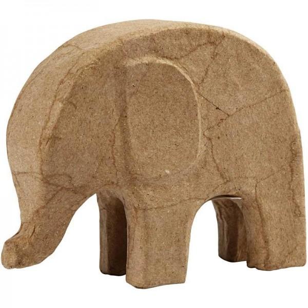 Elefant, aus Pappmachè, 16,5 x 4 x 14 cm