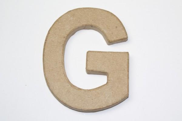 Buchstabe G, 10 x 1 cm, aus Pappmachè