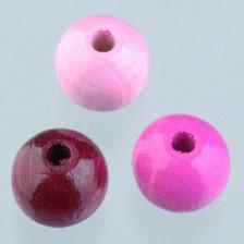 Holzperlen Mix 8mm - pinkmix