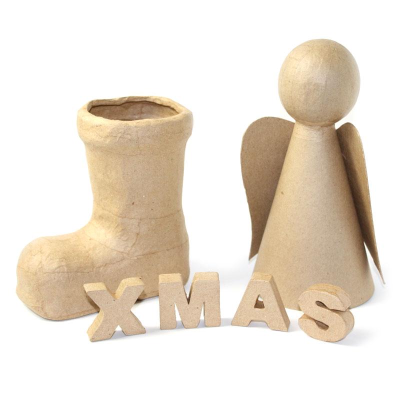 Christbaumkugeln Pappmache.Papp Art Weihnachten Kreativ Depot