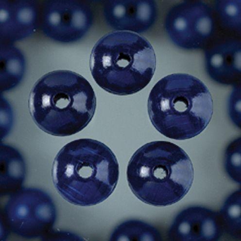 Holzperlen 8mm, 80 Stück - dunkelblau