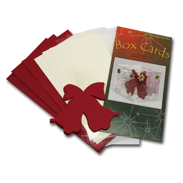 3-D Box Karte, 3er Set, 10x10 cm, Glocke