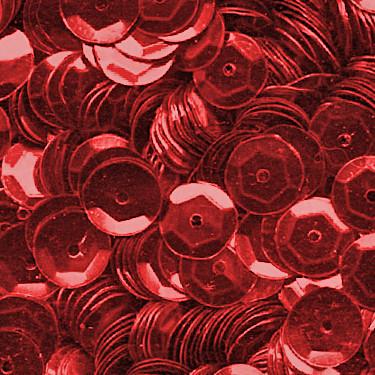 Pailletten, rund, gewölbt, 6 mm, 1400 St, rot-metallic