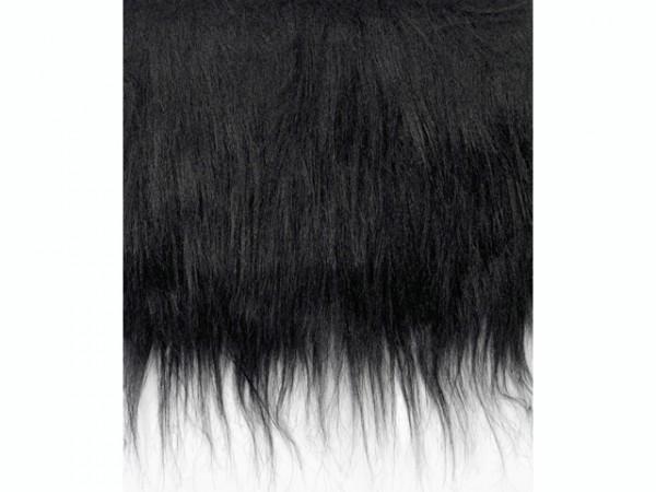 Langhaarplüsch, schwarz - 20 x 35 cm