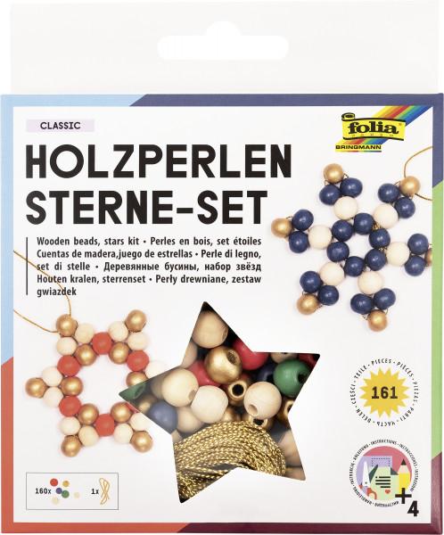 "Holzperlen-Sterne-Set ""Classic"" 161 Teile"