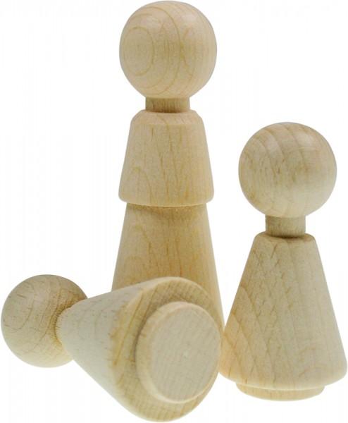 Figuren-Kegel Mädchen, aus Holz, 50 x 25 mm