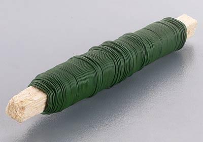 Wickeldraht, Blumendraht, 0,65 mm Ø, 100g, moosgrün