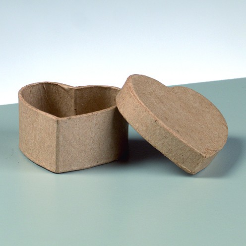 Box mini Herz, aus Pappmaché, 5 x 5 x 2,5 cm