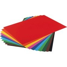 Fotokarton 10er Pack, 300g/m², 50x70 cm, 10 Farben sortiert