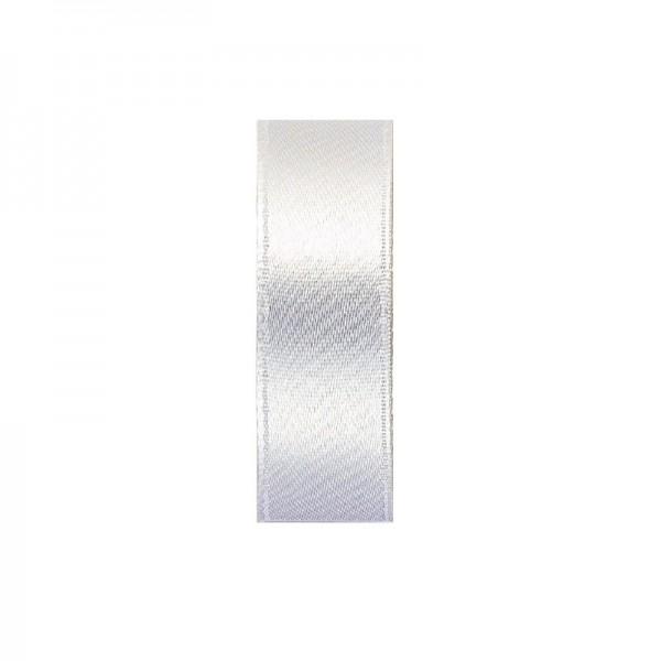 Satinband, doppelseitig, Länge 5 m, Breite 15 mm, weiß