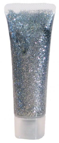 Eulenspiegel Glitzer-Gel, 18 ml, silber