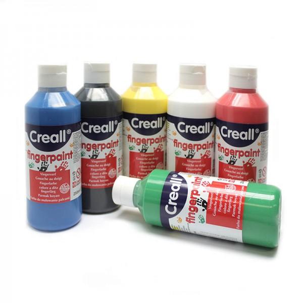 Creall Fingerfarbe, 6 x 250 ml