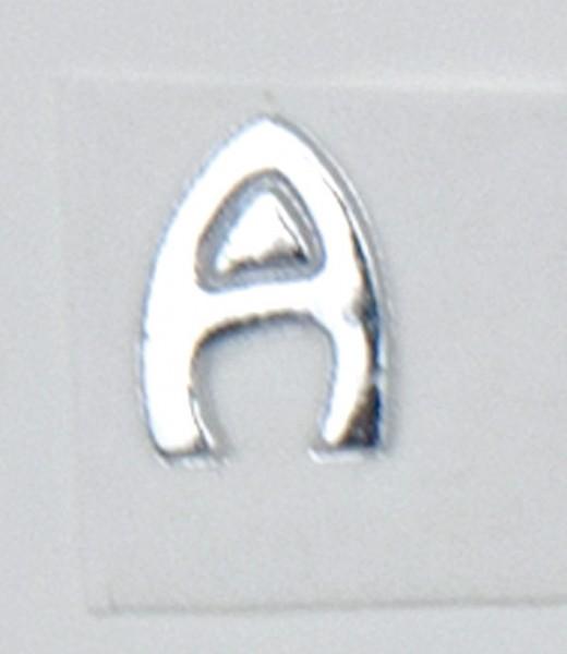 Wachsbuchstaben, 8 mm, 3 Stück, silber, A