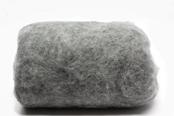 Merino-Filzwolle, im Vlies, 50 g, Platingrau