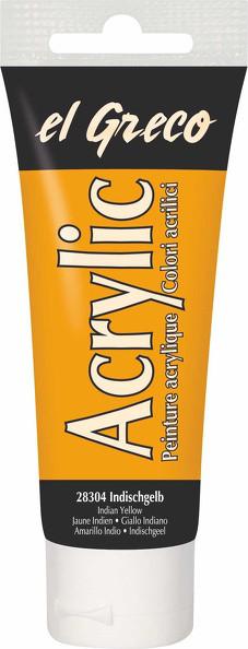Acrylfarbe el Greco Acrylic, 75 ml - Indischgelb
