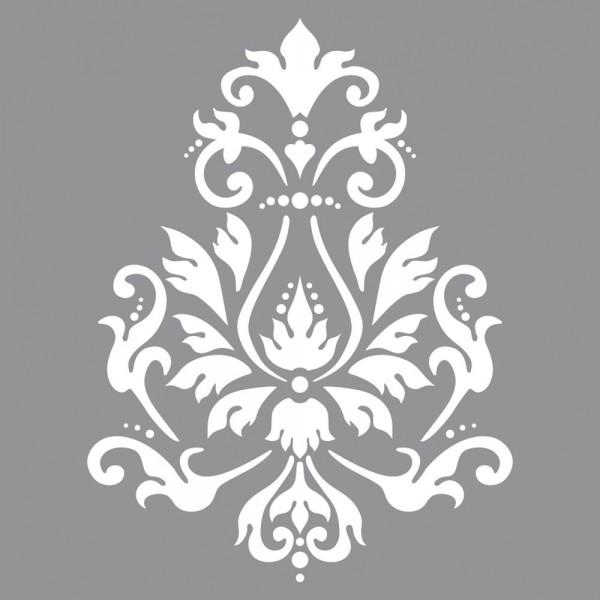 Schablone, 30,5 x 30,5 cm, Brokatmotiv