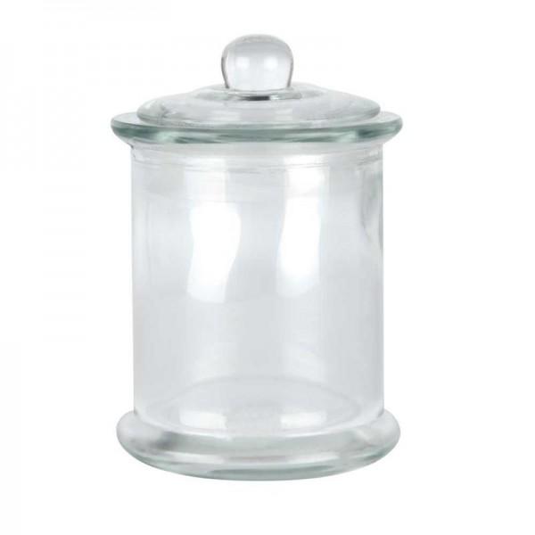 Glas, rund, mit Deckel