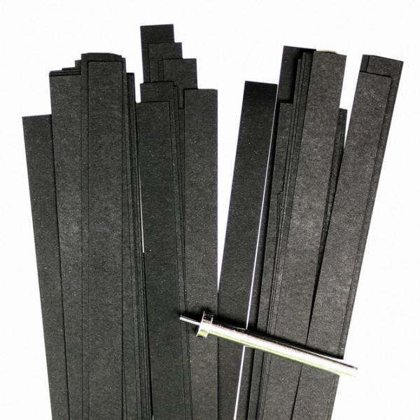 Quilling Papierstreifen, 10mm x 450mm, schwarz