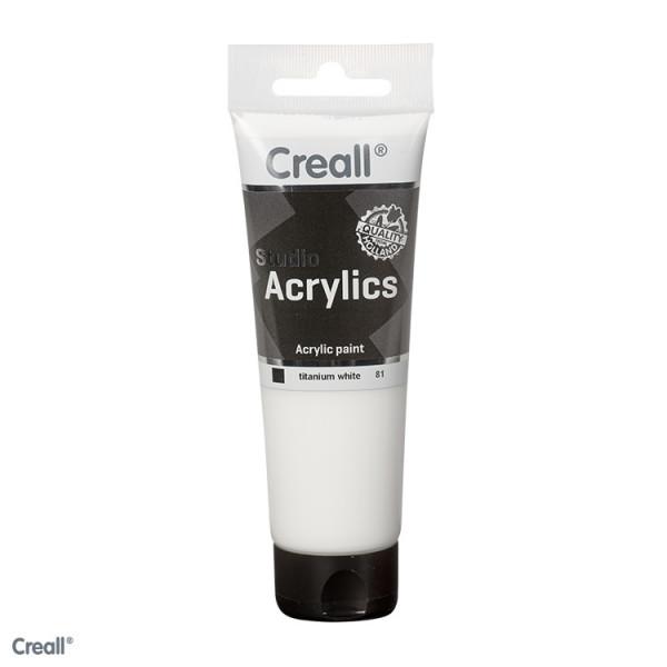 Creall-studio Acrylfarbe, 120 ml, Titanweiß