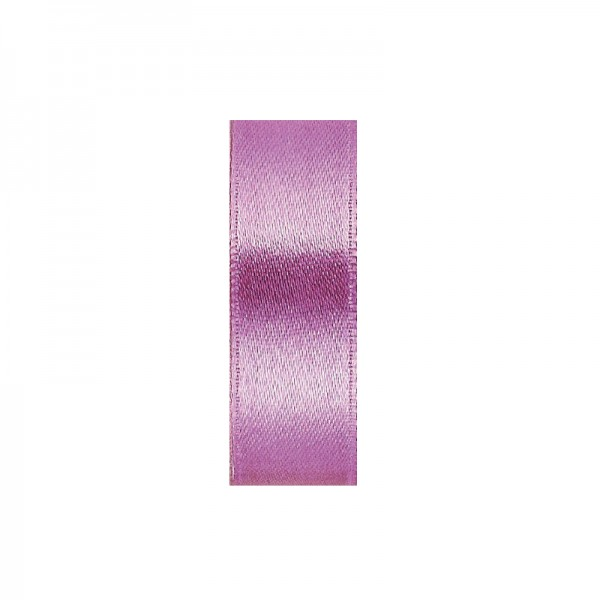 Satinband, doppelseitig, Länge 5 m, Breite 15 mm, helllila