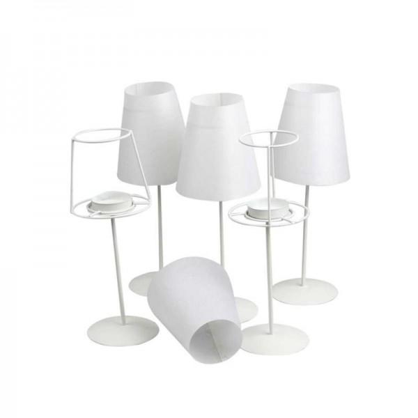 Teelichtlampe mit Metallfuß, rund, Ø 7,5 cm, Höhe 22 cm