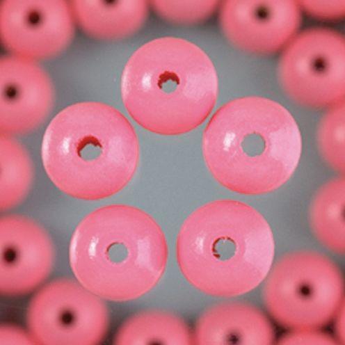 Holzperlen 14mm, 18 Stück - rosa