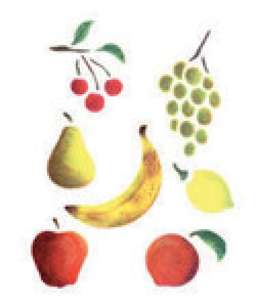 Motiv-Schablonen Obst 18x24 cm