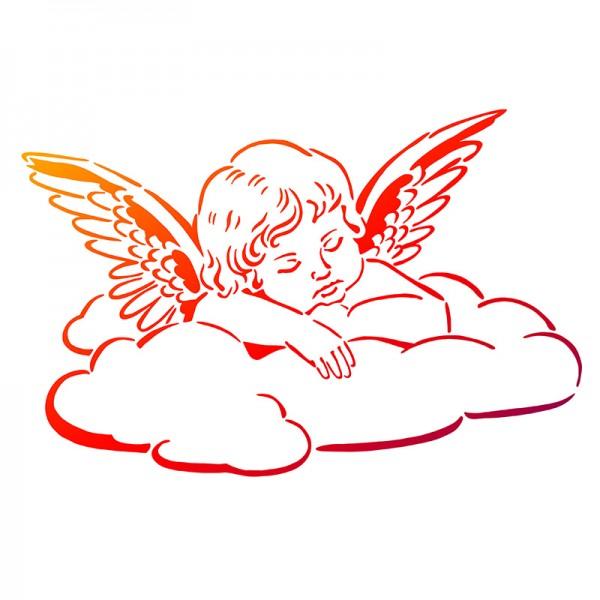 Viva Decor Universal-Schablone, DIN A4, Engel auf Wolke