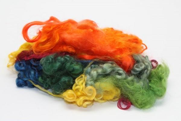 Wensleydale-Locken, 20 g, farbig gemischt